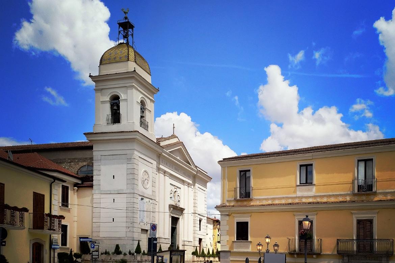 La iglesia de Santa María de los Ángeles en Pietrelcina