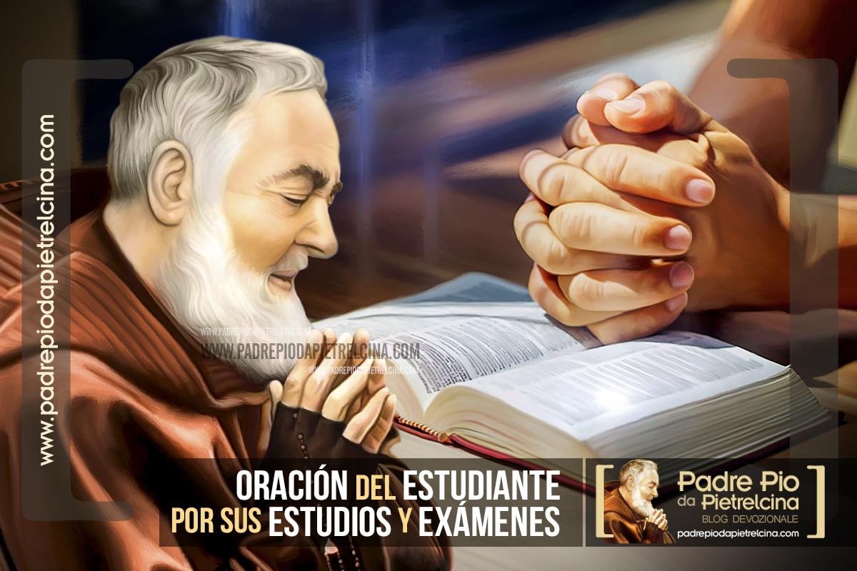 Oración del Estudiante al Padre Pío por sus Estudios y Exámenes