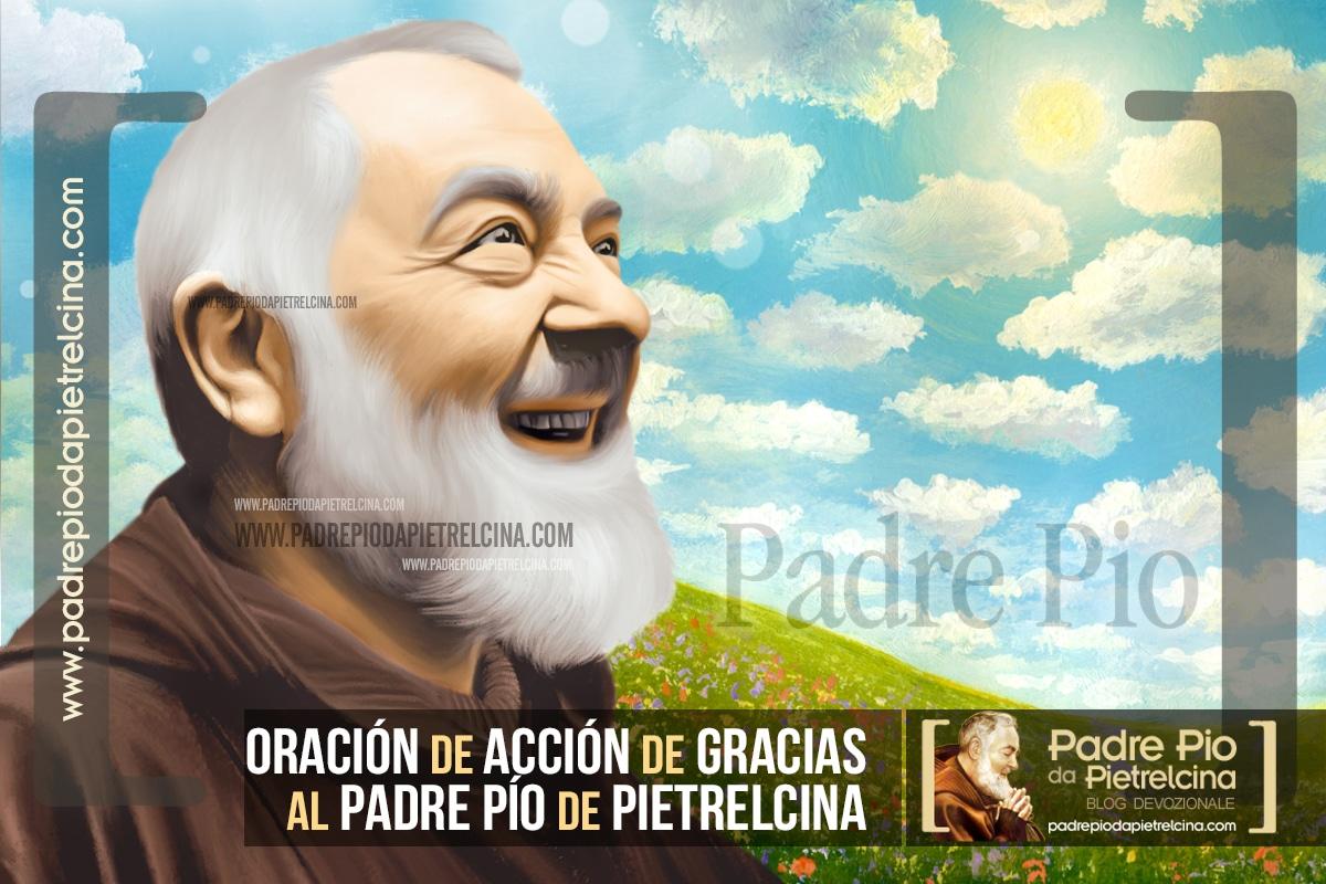 Oración de Acción de Gracias al Padre Pío