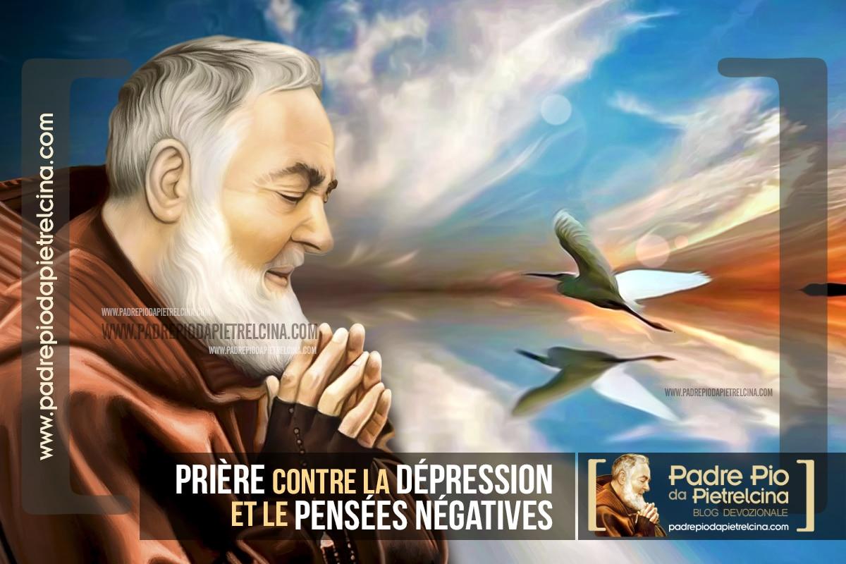 Prière à Padre Pio contre la Dépression et les Pensées Négatives