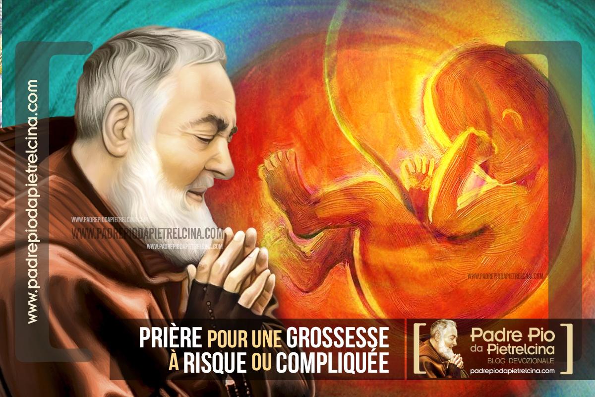 Prière à Padre Pio pour une Grossesse à Risque ou compliquée