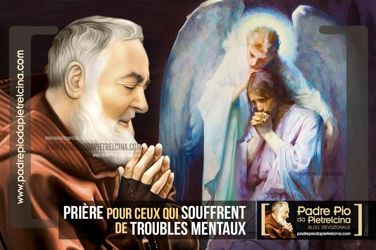 Prière contre les troubles mentaux et psychiatriques à St Padre Pio
