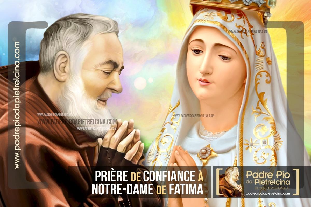 Prière à Notre-Dame de Fatima - Prière de Confiance à la Vierge Marie