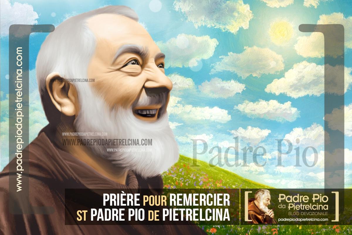 Prière pour remercier St Padre Pio de Pietrelcina