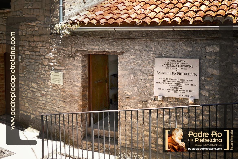 La casa dove è nato Padre Pio a Pietrelcina