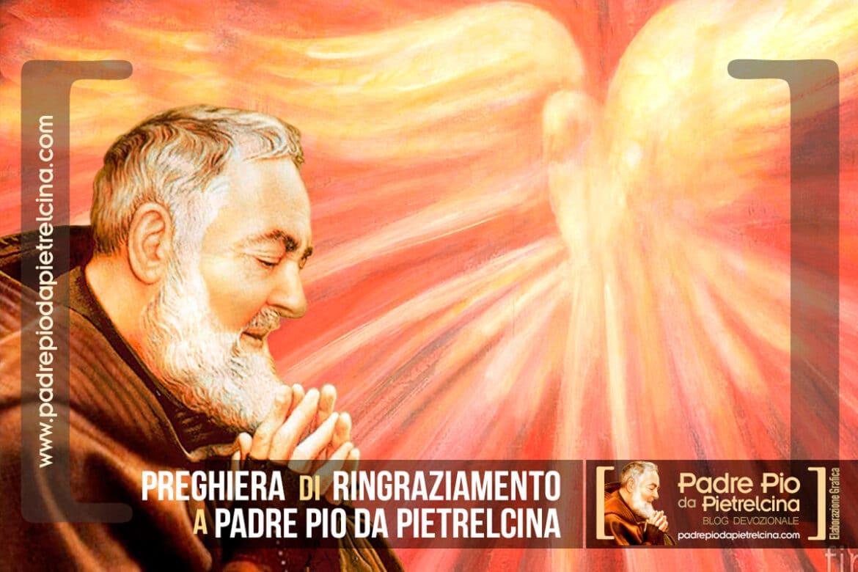Preghiera di Ringraziamento a Padre Pio