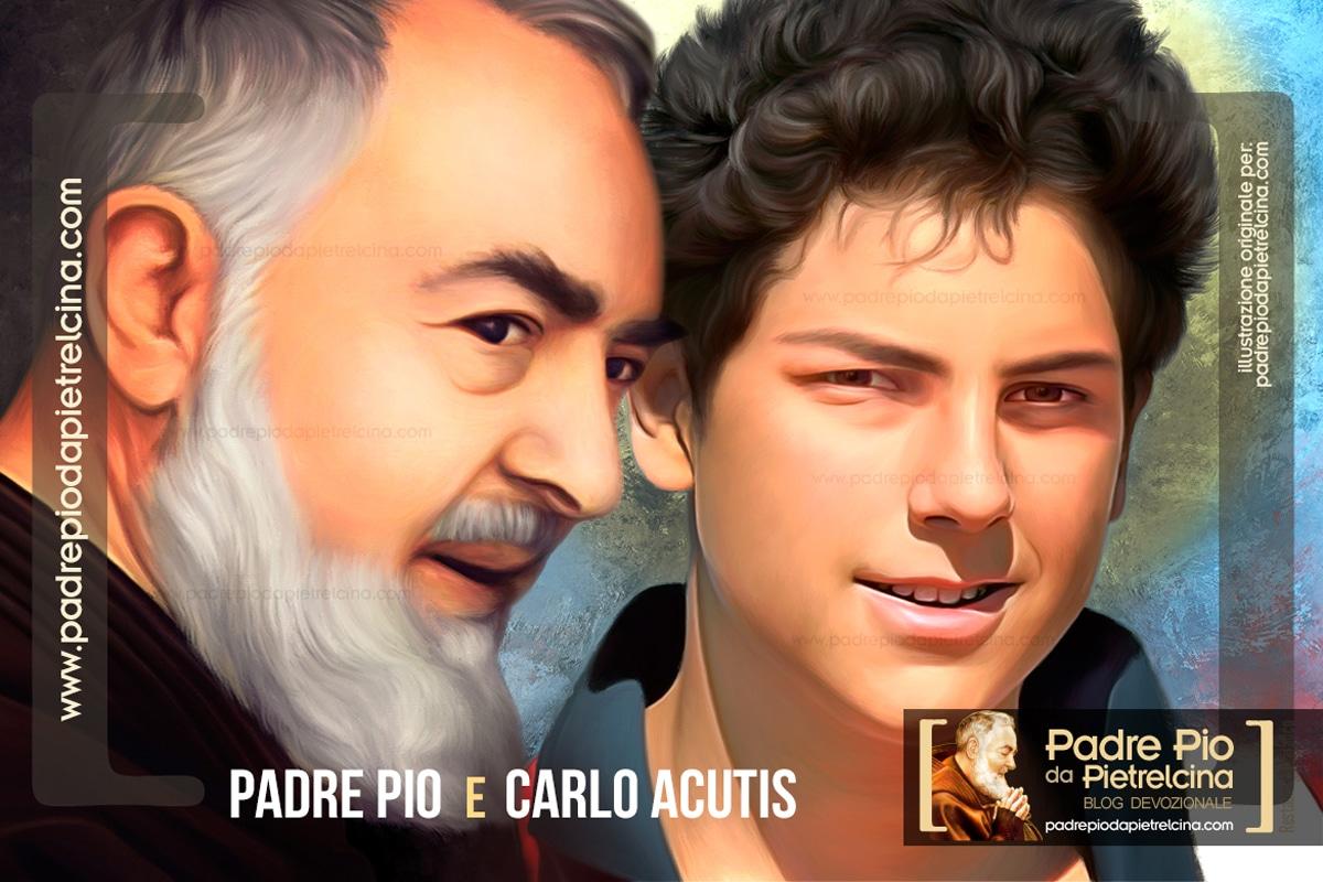 Padre Pio e il Beato Carlo Acutis devozione per Angeli