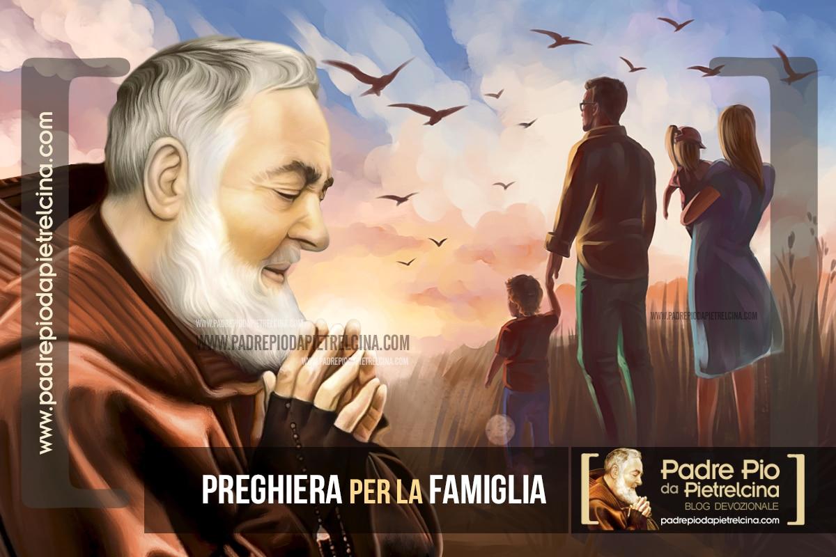 Preghiera a Padre Pio per la famiglia